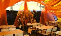 Летнее кафе ЛК-7-5х7,5 и деревянная мебель