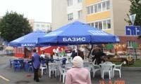 Зонт круглый диаметром 5 метров