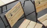 Мебель деревянная на металлическом каркасе
