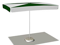 Зонт прямоугольный 3x2м