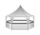 Киоск-бар шестигранный